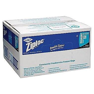 Ziploc® Double-Zipper Freezer Bags, 1 Gallon, 250/Box