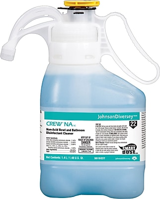 Diversey Crew® NA SC Non-Acid Bowl and Bathroom Disinfectant Cleaner, SmartDose™ 1.4 liter