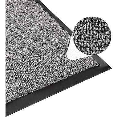 Apache Mills Step 1 Outdoor Entrance Mat, Brush Loop, Charcoal, 3' x 5'