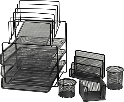 Staples® Mesh Wire Desk Set Collection