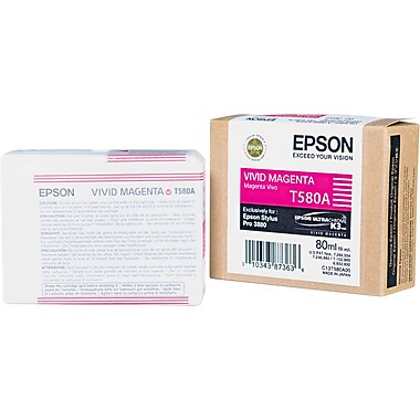 Epson 580 80ml Vivid Magenta Ink Cartridge (T580A00)