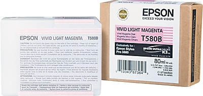 Epson 580 80ml Vivid Light Magenta Ink Cartridge (T580B00)