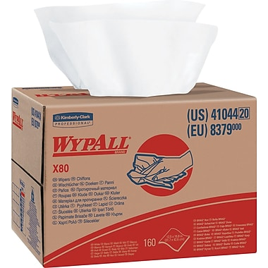Wypall® X80 Wipers, White, 160/Ct