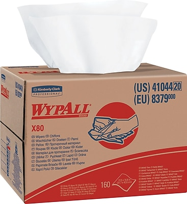 Wypall® X80 Wipers, White, 160/Count (41044)