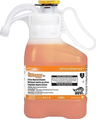 Diversey Stride® Neutral Cleaner, SmartDose™, Citrus Scent, 1.4 Liters