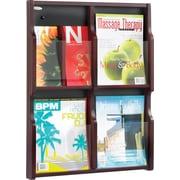Safco 6-Pocket Solid Wood Magazine/Pamphlet Display, Mahogany