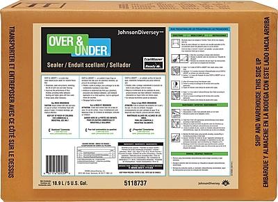 Diversey™ Over & Under® Floor Care Plus Floor Sealer, 5 Gallon BIB