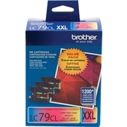 Brother LC79PKS C/M/Y Color Ink Cartridges, Super High Yield, Combo 3/Pack