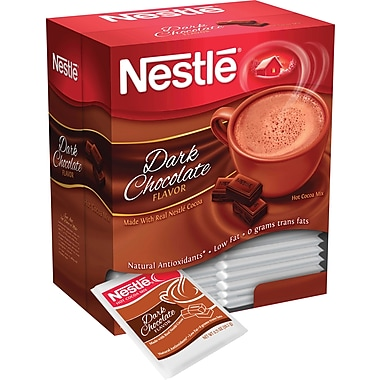 Nestlé® Hot Cocoa Mix, Dark Chocolate, .71 oz., 50 Packets