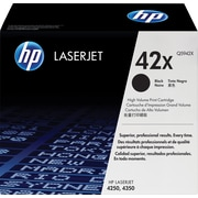 HP 42X (Q5942X) Black High Yield Original LaserJet Toner Cartridge