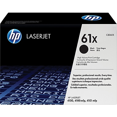 HP 61X (C8061X) Black High Yield Original LaserJet Toner Cartridge