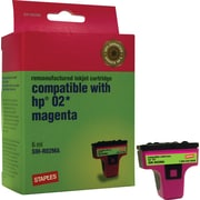 Staples® Remanufactured Inkjet Cartridge, HP 02 (C8772WN), Magenta