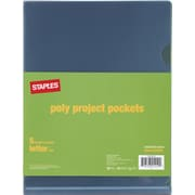 Staples Poly Project Pockets, Letter, Smoke colored, 5/Pack (10770-CC)