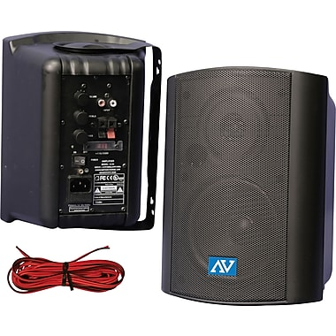 Amplivox Powered Wall Mount Stereo Speakers