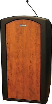 AmpliVox Sound Systems Pinnacle Floor Lectern, Cherry (ST3250-SC)