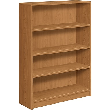 HON® 1890 Series Wood Laminate Bookcase, 4-shelf, Harvest