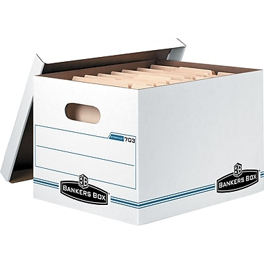 Bankers Box® Stor/File™ Basic-Duty Storage Boxes, Letter/Legal Size, 10/Pk (0070314)