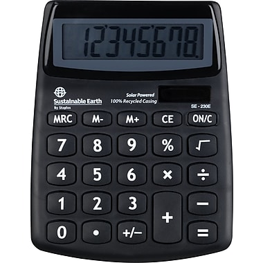 Staples SE-230E 8-Digit Display ECO Calculator