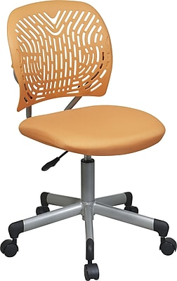 Office Star Fabric Computer and Desk Office Chair, Orange, Armless Arm (166006-18)