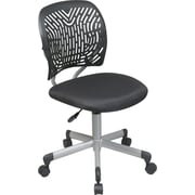 Office Star™ Fabric Computer and Desk Office Chair, Black, Armless Arm (166006-3)