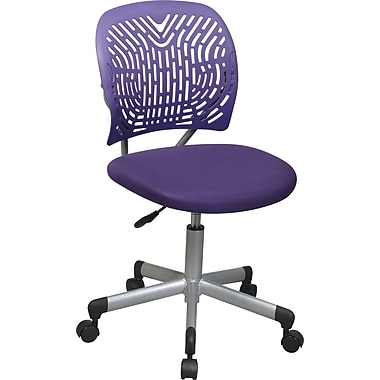 Office Star Fabric Computer and Desk Office Chair, Purple, Armless Arm (166006-512)