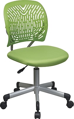 Office Star Fabric Computer and Desk Office Chair, Green, Armless Arm (166006-6)