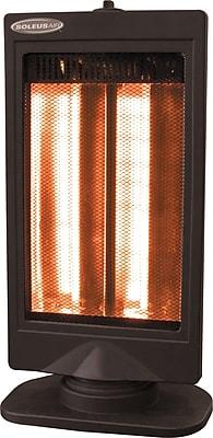 SoleusAir® Oscillating Reflective Heater, Black