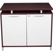 Regency® OneDesk Collection Storage Cabinet, Java/White Finish