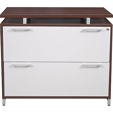 Regency OneDesk Collection 2 Drawer Lateral File, Java/White Finish (ONLF3624JV)
