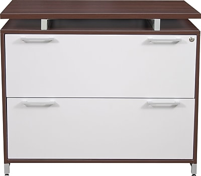 Regency® OneDesk Collection 2 Drawer Lateral File, Java/White Finish