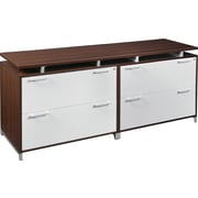 Regency OneDesk Collection Double Lateral Credenza, Java/White Finish (ONCSLFLF7124JV)