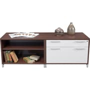 Regency OneDesk Collection Low Lateral Credenza, Java/White Finish (ONCSLFBK6020JV)