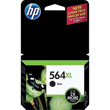 HP 564XL Black Ink Cartridge, High Yield (CN684WN#140)