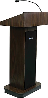 AmpliVox Sound Systems Executive Sound Lectern, Walnut (S505-WT)