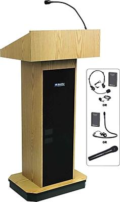 AmpliVox Sound Systems Executive Computer Lectern, Oak (SW505-OK)