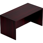 """Offices To Go™ Furniture Collection 60""""W  Desk Shell, American Mahogany (TDSL6030DSAML)"""