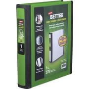 Staples Better Mini 1-Inch D 3-Ring View Binder, Green (20943)