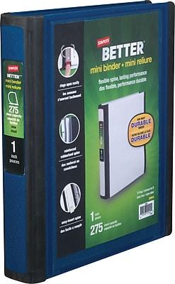 Staples Better Mini 1-Inch D 3-Ring View Binder, Blue (20942)