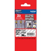 "Brother® TZES Extra-Strength Industrial Label Tape Cartridges, 3/4"", Black on Clear"