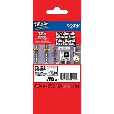 Brother® TZES Extra-Strength Industrial Label Tape Cartridges, 1