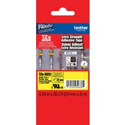 "Brother® TZES Extra-Strength Industrial Label Tape Cartridges, 1"", Black on Yellow"