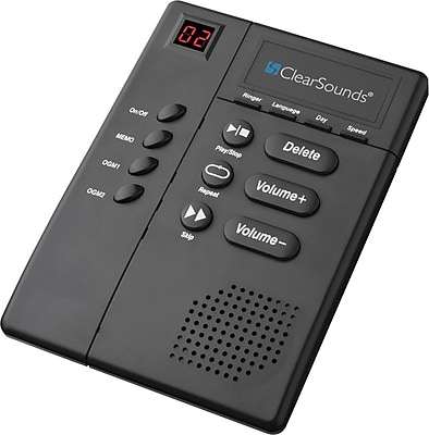 ClearSounds® ANS3000 Digital Amplified Answering Machine with Slow Speech