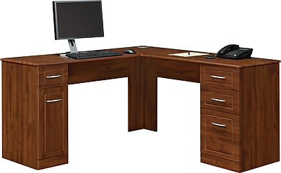 Altra Chadwick Collection L Desk Virginia Cherry Staples