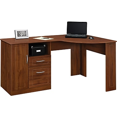 ameriwood® dover desk, federal white/sonoma oak | staples®