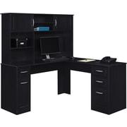 Altra™ Chadwick Collection L Desk,  Nightingale Black
