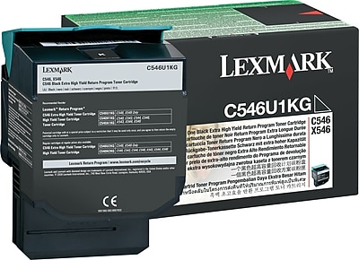 Lexmark C546U1KG Black Toner Cartridge, Extra High Yield