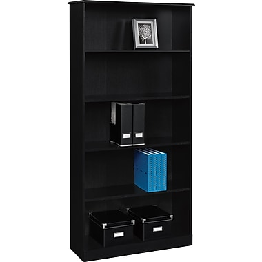 Altra Chadwick Collection 5 Shelf Bookcase Nightingale Black