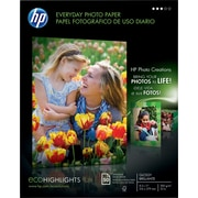 "HP Everyday Photo Paper, 8-1/2"" x 11"", Gloss, 50/Pack (Q8723A)"