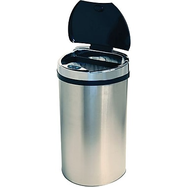 iTouchless Semi-Round Extra-Wide Lid Opening Touchless Trashcan® HX, 13 gal.