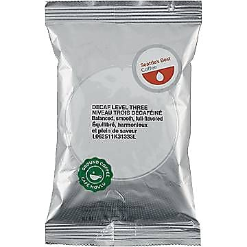 Seattle's Best® Level 3 Ground Coffee, Decaffeinated, 2 oz., 18 Packets